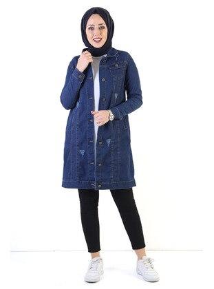 Blue - Jacket - Tesettür Dünyası