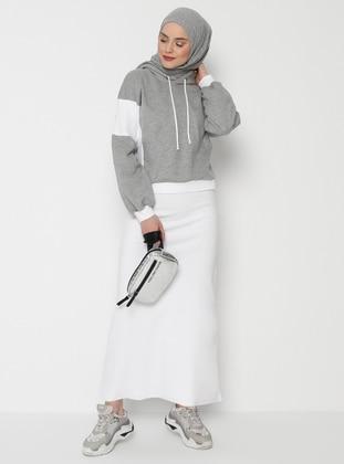 Ecru - Gray - Suit