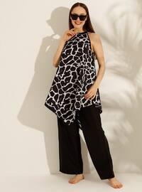 White - Black - Zebra - Half Covered Switsuits