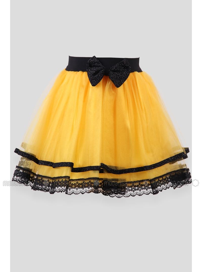 Yellow - Girls` Skirt