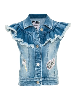 Denim -  - Navy Blue - Girls` Vest