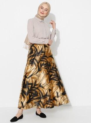 Mink - Floral - Unlined - Skirt