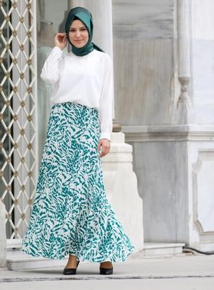 Green - Multi - Unlined -  - Skirt
