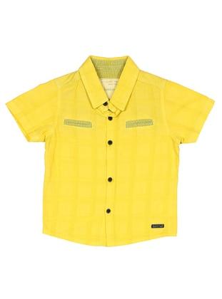 Point Collar -  - Unlined - Yellow - Boys` Shirt
