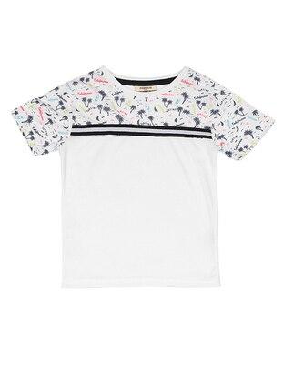 Crew neck -  - White - Boys` T-Shirt
