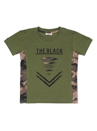 Crew neck -  - Unlined - Khaki - Boys` T-Shirt