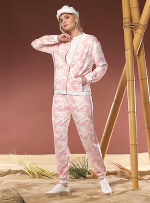 Modal -  - Pink - Loungewear Suits - Gizzey