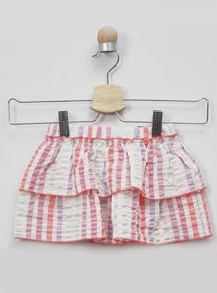 Stripe - - Multi - Pink - Baby Skirt - Panço