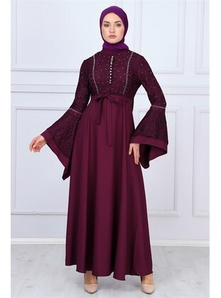 Plum - Muslim Evening Dress