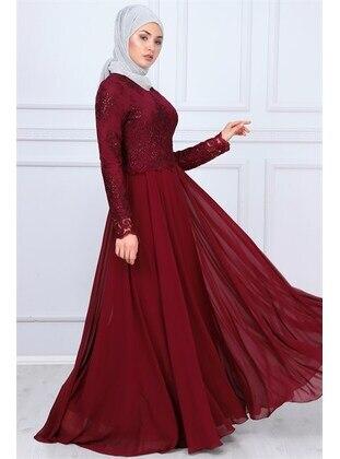Maroon - Muslim Evening Dress