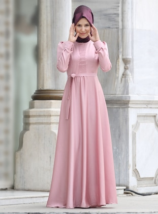 Dusty Rose - Crew neck - Fully Lined -  - Dress