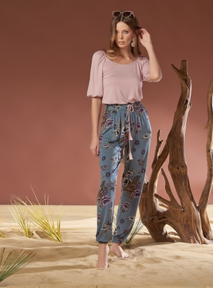 Viscose - Dusty Rose - Loungewear Suits