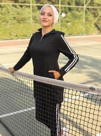 Black - - Tracksuit Set - Sports