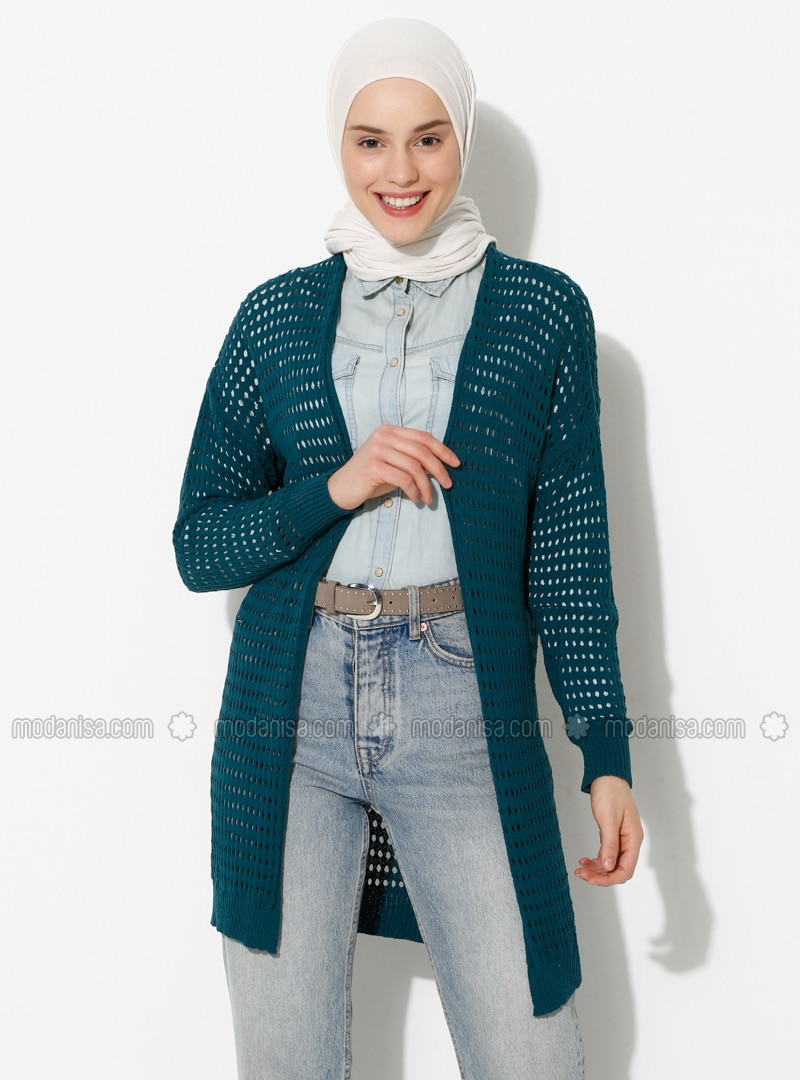 Petrol - Unlined -  - Knit Cardigans