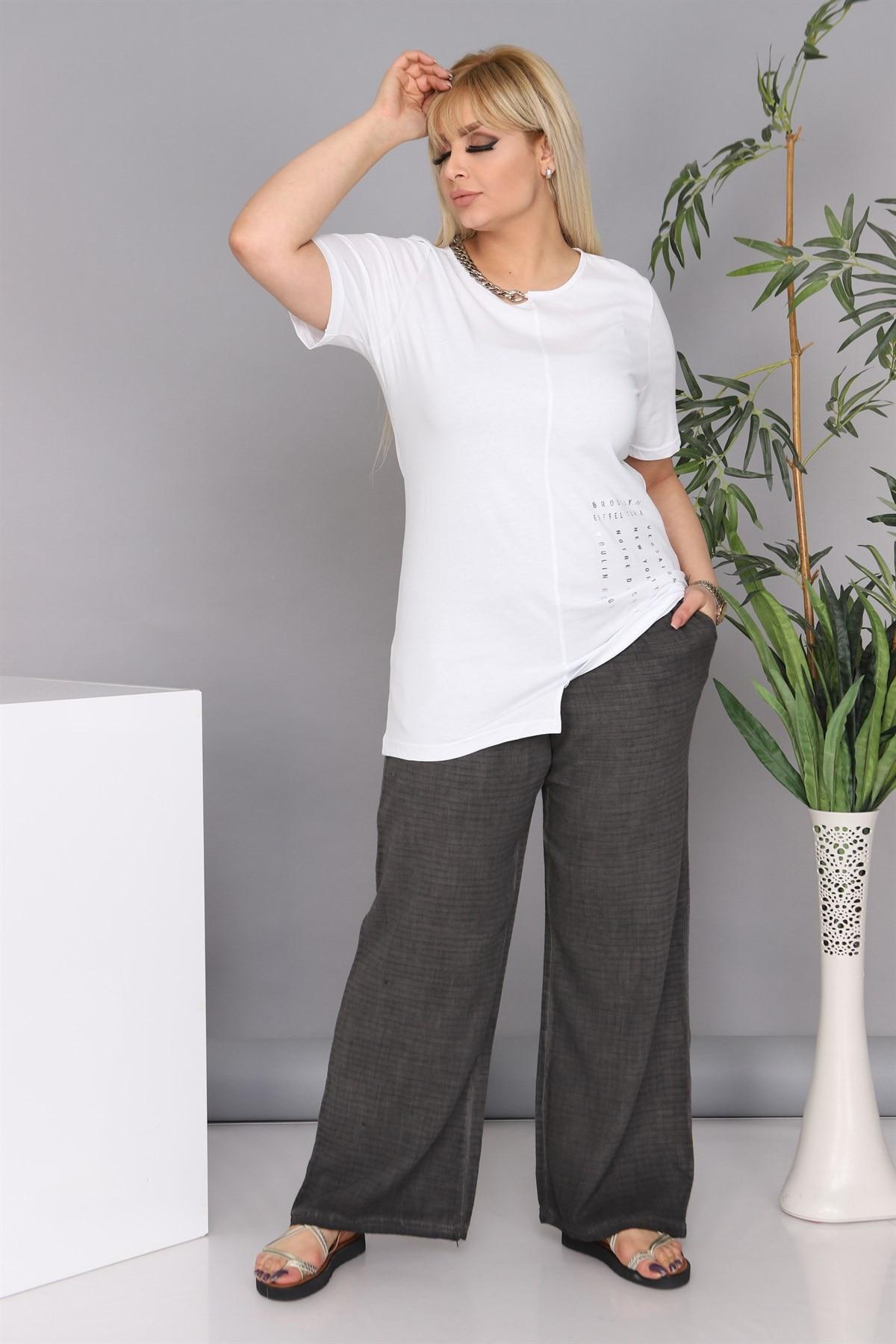 Plus Size T-Shirts MJORA White