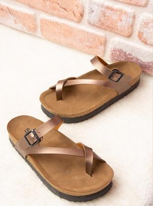 Bronze - Sandal - Slippers