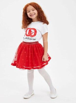 Red - Girls` Skirt - DeFacto