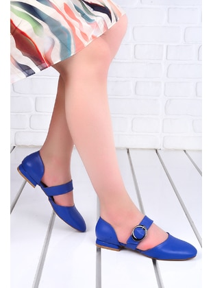 Blue - Flat Shoes