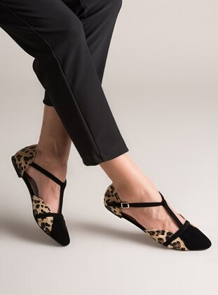 Black - Leopard - Flat - Flat Shoes