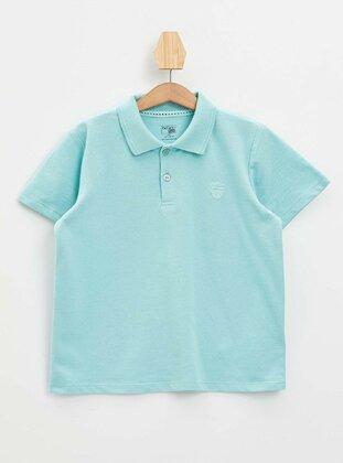 Turquoise - Boys` T-Shirt - DeFacto