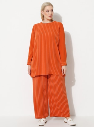 Terra Cotta - Stripe - Plus Size Pants
