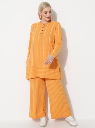 Mustard - Stripe - Plus Size Pants