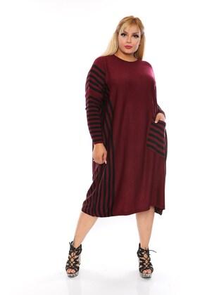 Maroon - Plus Size Tunic