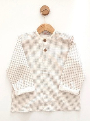 Point Collar -  - White - Boys` Shirt