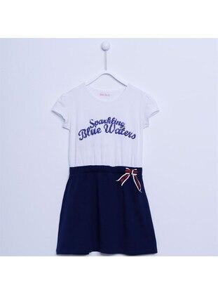 Navy Blue - Girls` Dress - Silversun