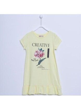 Yellow - Girls` Dress - Silversun