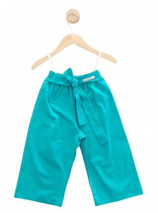 - Unlined - Turquoise - Girls` Pants