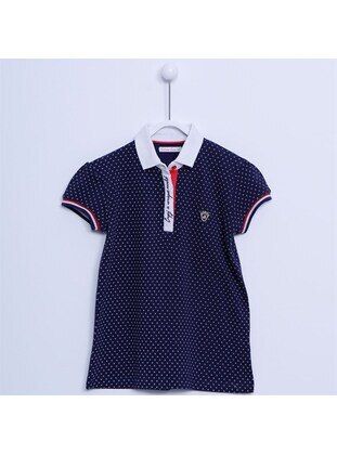 Navy Blue - Girls` Shirt - Silversun