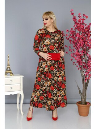 Red - Plus Size Dress