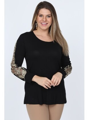 Black - Plus Size Blouse - MJORA