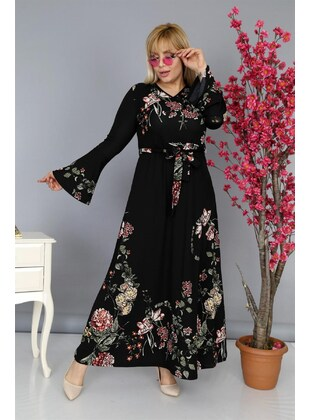 Black - Plus Size Dress - MJORA