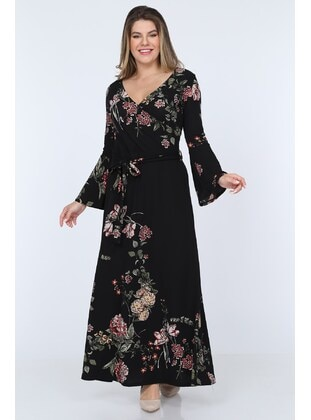 Black - Plus Size Dress - MJORA