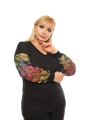 Black - Plus Size Blouse