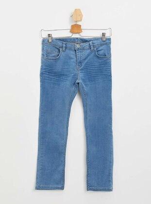 Blue - Boys` Pants - DeFacto