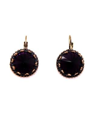 Gold - Purple - Earring