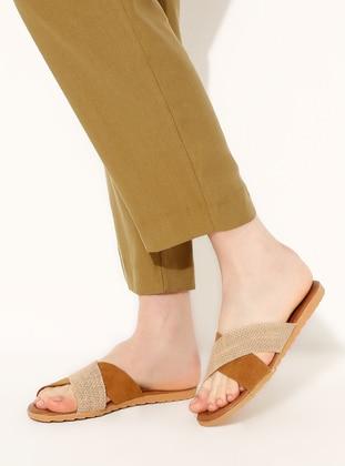 Beige - Tan - Sandal - Slippers