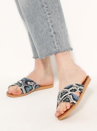 Blue - Green - Sandal - Slippers