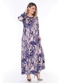 Blue - Plus Size Dress