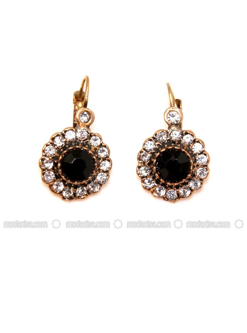 Gold - Black - Earring