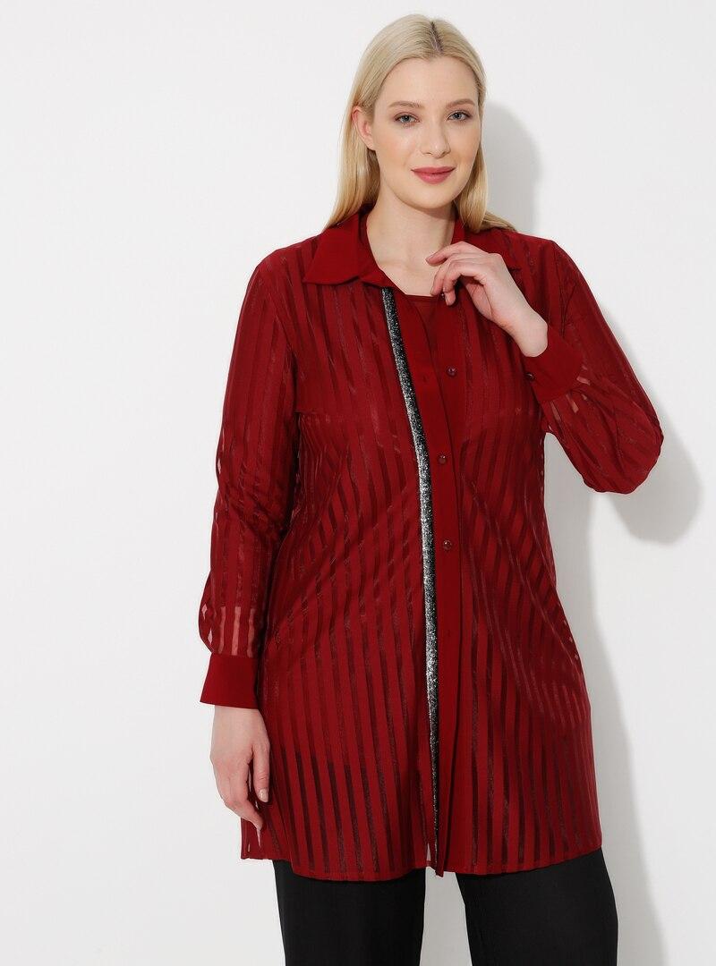 Plus Size Suit Metex Maroon