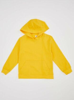 Yellow - Boys` Sweatshirt