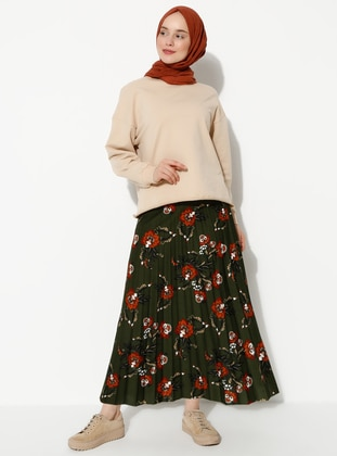 Khaki - Multi - Skirt