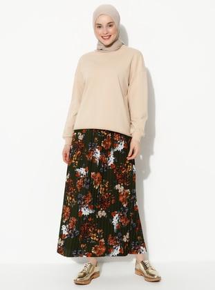 Khaki - Multi - Skirt