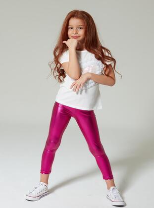 Fuchsia - Girls` Leggings