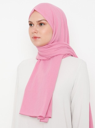 Pink - Plain -  - Shawl