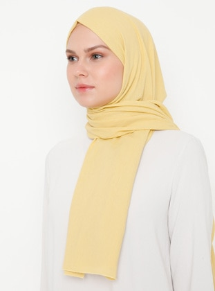Yellow - Plain -  - Shawl